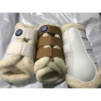 2NDS Equinenz Wool Brushing Boots - WHITE XL ONLY