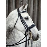 Amerigo VESPUCCI Patent Double Bridle with Reins - CREASED BROWBAND