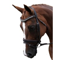 Flexible Fit Gel Pearl & Crystal Brown Bridle