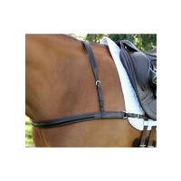 Flexible Fit Gel Padded English Leather Dressage Breastplate