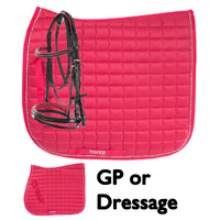 Bright Pink Bridle and Saddle Pad Set - Dressage or GP