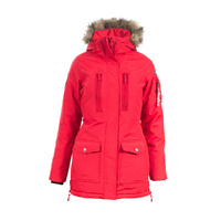 Horze Brooke Long Parka Jacket - Red