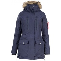 Horze Brooke Long Parka Jacket - Navy