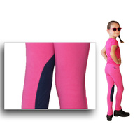 Just Joddies Kids Pink/Blueberry Low Rise Pull On Jodhpurs