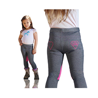 Little Lyndi Kids Denim/Hot Pink Jodhpurs - Sizes 0-3