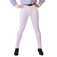 Lyndi J Original Fit White Ribbed Sticker Jodhpurs