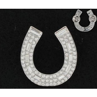Diamante Horseshoe Brooch