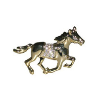 Stone Set Horse Brooch
