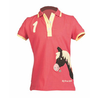 Pink My Pony Polo Shirt- by HKM - 3yrs -8yrs