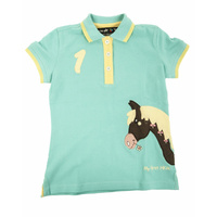 Turquiose My Pony Polo Shirt- by HKM - 3yrs -8yrs