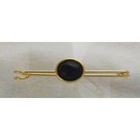 "2"" Gold Stock Pin with Black onyx stone"