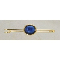 "2"" Gold Stock Pin with Blue Onyx stone"