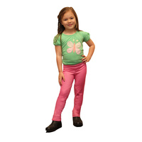 Lyndi J Just Joddies Kids Pull On Jodhpurs Peony Pink - SIZE M & L ONLY