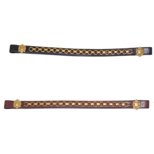 Brass Chain Browband