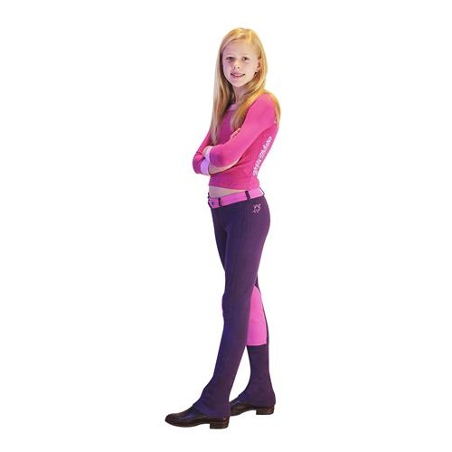 Lyndi J Kidz Hipster Magic Purple and Fairy Floss Carnival Jodhpurs