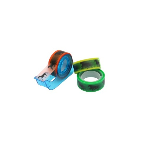 Sticky Tape Dispenser with Horse Design Coloured Tape