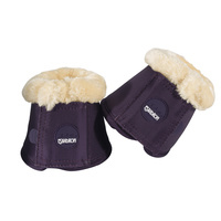 Eskadron Plum Faux Fur Bell Boots - XL ONLY