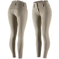 Horze Daniela Leather Knee Patch Breeches - Beige