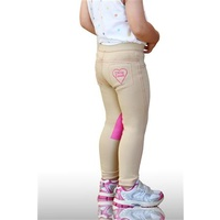 Little Lyndi Beige/Lolly Pink Jodhpurs