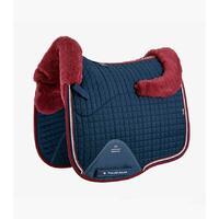 PEI Merino Wool European Dressage Saddle Pad - Navy / Burgundy
