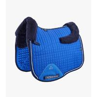 PEI Merino Wool European Dressage Saddle Pad - Royal Blue/Navy Wool - Full size