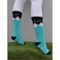Peter Williams Kids Horse Riding Socks - Turquoise