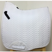 Kieffer Dressage Saddle Pad - White w/ White Cord